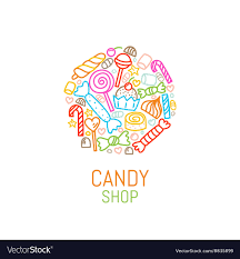 candy template. Brilliant Template Logo Template Of Candy Shop Vector Image To Candy Template T