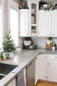 kitchen decorating ideas. Unique Kitchen Kitchen Christmas Decorations White Kitchen Dressed In Frosted Greens For  A Festive Touch For Decorating Ideas U