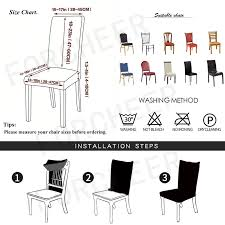 Slipcover Price Chart Us 2 99 39 Off Big Elastic Removable Dining Chair Cover Anti Dirty Flexible Solid Color Seat Case Folding Slipcover For Weddings Banquet In Chair