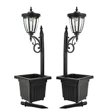 Sun Ray Kambria Multi Function Solar Lamp Post And Planter Wall Mount Stake Lighttwo Pack Black