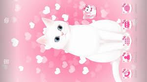Pink kitty 3d live wallpaper theme ...