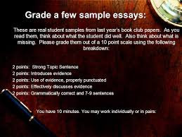 writing well structured paragraphs ppt video online  grade a few sample essays