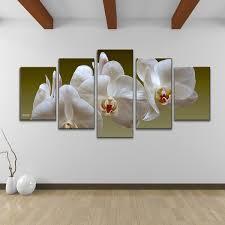 bruce bain x27 white orchid x27 5 piece set canvas on orchids wall art with shop bruce bain white orchid 5 piece set canvas wall art free