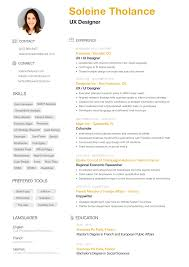 Ux Resume Resume Soleine Tholance UX Design 5
