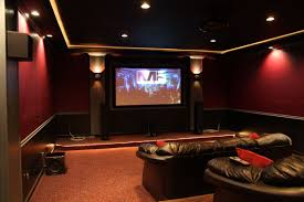 theatre room lighting ideas. Home Movie Theater With Molding And Indirect Lighting;  Ideas Theatre Room Lighting A