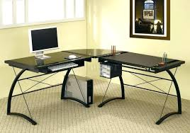 black metal desk glass top computer desk large size of office and metal desk black glass
