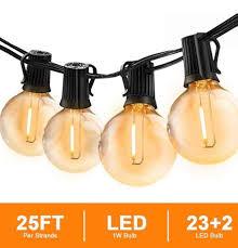 svater globe string lights outdoor 25ft