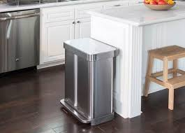 dual trash can for recycling and garbage kitchen