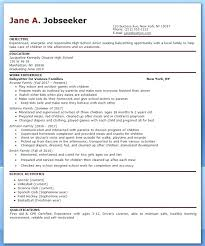 Babysitting Resume Samples Best Of Babysitter Bio Babysitting Resume Template Sample Make For Inside