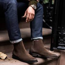 From tan to dark, browse through our selection of brown chelsea boots. Cavalier Dark Brown Suede Chelsea Boots Men Outfit Chelsea Boots Men Brown Chelsea Boots