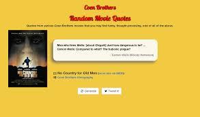 coen brothers random quote generator