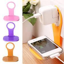 Folding Cell <b>Phone Charging Rack Holder</b> Wall <b>Charger</b> Adapter ...