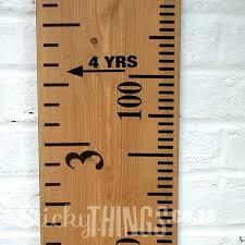 ruler decal wall growth chart wooden sticker 3 pottery barn erfly knock pottery barn growth chart