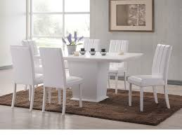 White Leather Kitchen Chairs Dining Room Expensive White Rectangle Dining Table And White