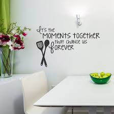 vinyl decals for the kitchen it s the moments together that change us forever kitchen on kitchen wall art lettering with moments together vinyl wall decal family saying for the kitchen decor