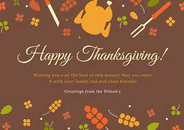 Classic Thanksgiving Greeting Card Templates By Canva