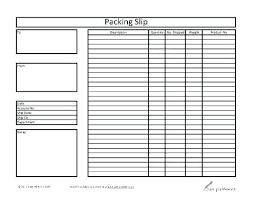Shipping Packing List Template Inspirational Sample Form