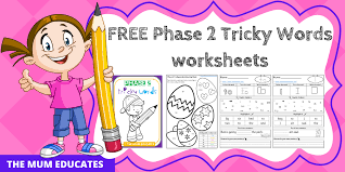 Tricky words are the words that cannot be decoded potentially, so children are taught to learn them by sight. Free Phase 2 Tricky Words Worksheets Reception Early Years The Mum Educates