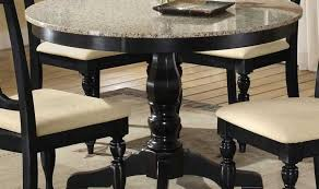 and black room granite large top bases set ideas table base dining chairs models images round