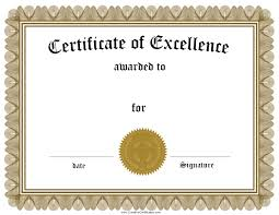 Certificate Of Excellence Template Word Certificate Of Achievement Template Word Best Certificate Of 43