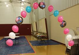 Sports Themed Balloon Decor Music Party Theme Lewisville Tx Music Balloons Music Balloon Arch
