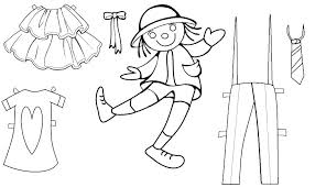Free Printable Paper Doll Template Paper Doll Clothing Free