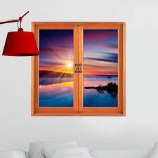 Artificial Window Sunset Pag 3d Artificial Window Cloud Iridescence Wall Decals Room