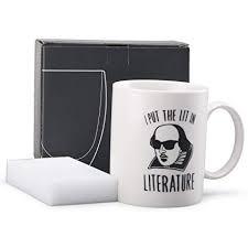 cute coffee mug quotes. Interesting Coffee Neolith Cute Coffee Mugs With Quotes I Put The Lit In Literature 12 Oz  Ceramic Fun To Mug Q