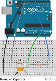 how to make an arduino capacitance meter the circuit