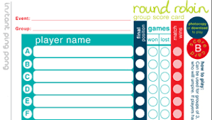 Downloadable Competition Templates Table Tennis England