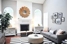 grey and white striped rug family room with walls a painted black runner grey and white striped rug