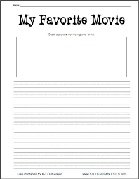 k my favorite movie printable writing prompt worksheet k 2 my favorite movie printable writing prompt worksheet