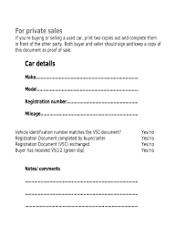 Simple Vehicle Bill Of Sale Template Private Car Sale Receipt Template Free Private Car Bill Of Sale