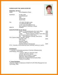 Resume English Template And English Resume Template Word Download