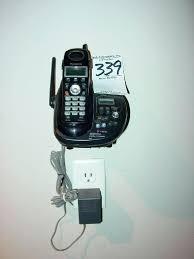 image 1 wall hung cordless phone system with 2 handsets black wall mounted cordless phones john lewis wall hung cordless phone system with 2 handsets black