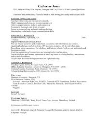 Sample Resume For Financial Services Financial Services Resume Sample Free Resumes