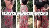 Deanne Skirt Size Chart Lularoe Deanne Wrap Skirt Size And Fit 3xl Large Youtube