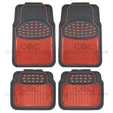 rubber floor mats car. Fine Floor Image Is Loading RedBlackMetallicDesignRubberFloorMatsCar In Rubber Floor Mats Car E