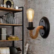 industrial wall lights. Nordic Loft Style Rope Edison Wall Sconce Vintage Lamp Antique Industrial Lights For Home Indoor Lighting Arandela-in Lamps From N