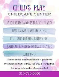 Childcare Center Preschool Advertisement Flyer Template