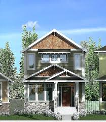 narrow lot craftsman style house plans unique luxury small home floor with detached garage