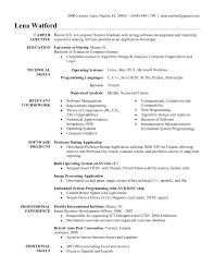 Resume Objective Examples For Software Engineer New Sample Resume