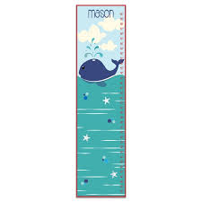 Nautical Growth Chart Herring Nautical Whale Personalized Growth Chart