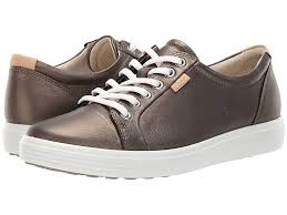 Ecco Shoe Chart Ecco Soft 7 Sneaker Womens Lace Up Casual Shoes Black Stone