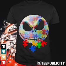 Autism Shirt Designs Official Face Jack Skellington Autism Shirt