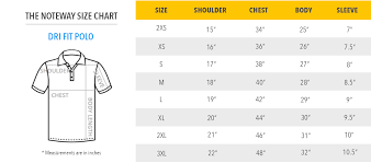 Regular Fit T Shirt Size Chart Dri Fit Polo T Shirt Printing Size Chart Thenoteway