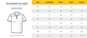 Dri Fit Polo T Shirt Printing Size Chart Thenoteway