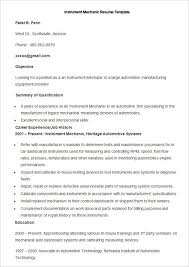 Manufacturing Resume Templates Beauteous 28 Free Manufacturing Resume Templates Word PDF Sampleformats