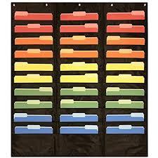 Hanging Pocket Chart 30 Pocket Storage Pocket Chart Hanging Wall File Organizer