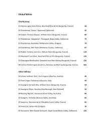 globe bistro wine list